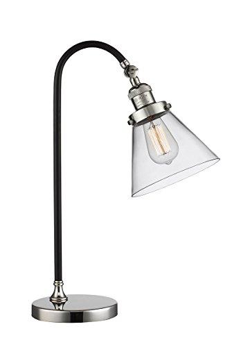 Black Brook Table Lamps Black and Polished Nickel - Innovations Lighting 515-1L-BPN-G42
