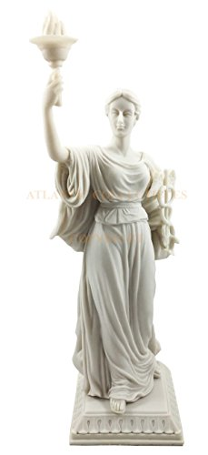 Ebros Greek Roman Goddess of Health And Medicine Hygiea Statue In Classical White Resin Finish Hygeia Figurine Daughter Of Asclepius Epione For Physicians Doctors And Health Care Proffesionals
