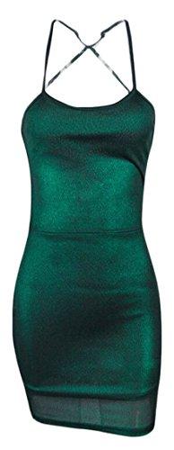 metallic colorblock bandage dress - 5