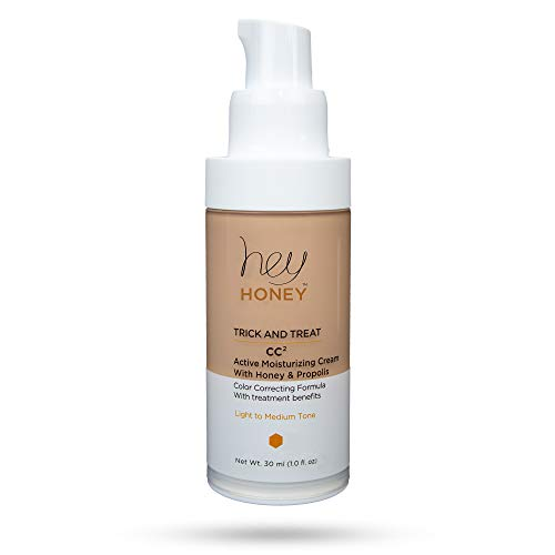Active Moisturizing Color Correcting Cream with Honey and Propolis - TRICK AND TREAT CC² - Hey Honey Skin Care (Light to Medium) (Active Moisturizing Cream)