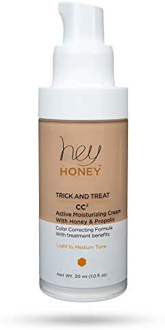 Hey Honey Active Moisturizing Color Correcting Cream with Honey and Propolis Trick and Treat CC² in Light To Medium