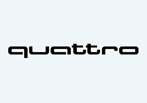 Sticker for Car - Quattro Aufkleber Audi Audi Sport R8 Tt A1 A3 A8 Q5 Q7 Rs Auto Racing- Stickers Vinyl for Car Truck Window Bumper Laptop Vinyl Decals ()