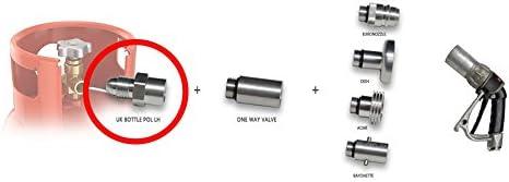 Adaptador para llenar bombonas de butano, remoto, 2 m, con ...