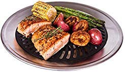 Grill Double Electric - Kitchen + Home Stove Top Smokeless Grill Indoor BBQ, Stainless Steel with Double Coated Non Stick Surface