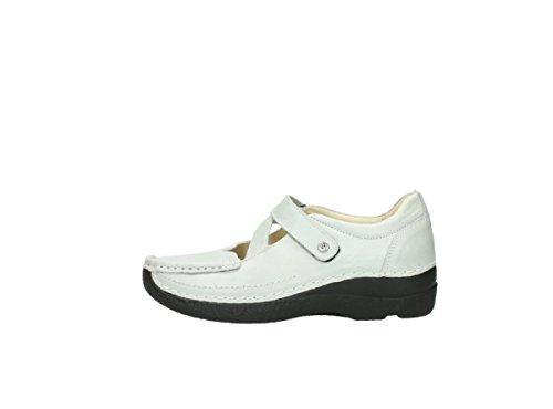 Bianco Wolky Donna 80120 Sandali Offwhite 37 Leather Eu OrEqrafwx