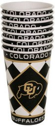 Colorado Buffaloes Paper Cups Set (Sold by 1 pack of 24 items) PROD-ID : 1891558