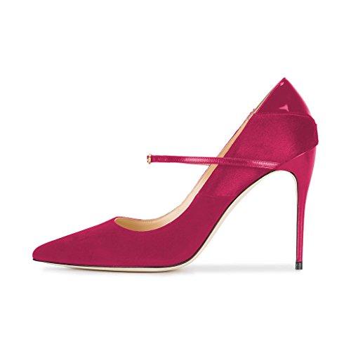Zapatos De Tacón Alto Elegante De Las Mujeres De Fsj Tacones Altos Bombas De Leopardo Zapatos De Noche Del Baile De Fin De Curso Del Partido De Los Estiletes Tamaño 4-15 Fucsia De Ee. Uu.