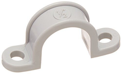 Pvc Pipe Straps - Morris Products PVC Pipe Straps - 2 Hole - 1/2 Inch - Pipe Strap for Plastic Conduit Schedule 40 PVC - Heavy Duty Polythene - Resists Deterioration, Breakage, UV Ray Damage - 100 Pieces