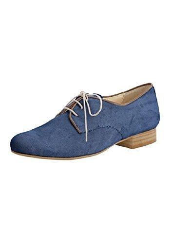 Cordones estilo mujer lona de Patrizia Dini 41 EU|Blu (blu)