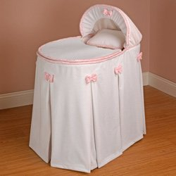 Babykidsbargains Perfe Countly Pretty Pink Bassinet Liner Skirt and Hood, 13'' x 29'' by babykidsbargains