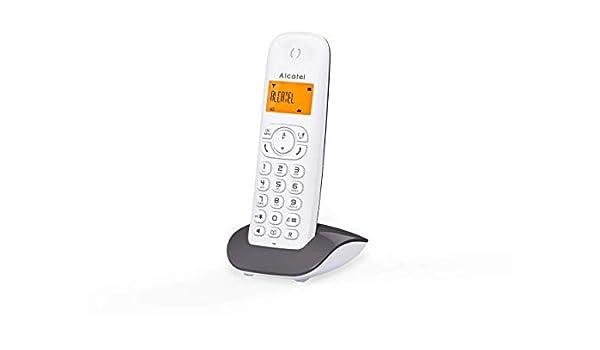 Alcatel Telefono Inalambrico, DECT C350 EMA, Gris/Blanco: Amazon.es: Electrónica