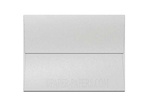 Shimmer Pearl White A1 (3-5/8-x-5-1/8) Envelopes 25-pk - 118 GSM (32/80lb Text) PaperPapers 3X5 RSVP, Response and DIY Greeting Envelopes