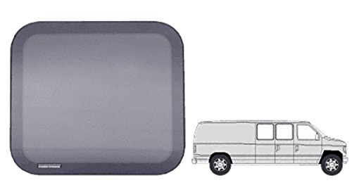 "C.R. LAURENCE FW241 CRL Fixed ""All Glass Look"" 60% Window for Side Hinged Door - 1992+ Ford Vans 20-1/16"" x 21-3/4"""