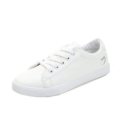 ZHZNVX Zapatos vulcanizados para Mujer PU (Poliuretano) Zapatillas de Deporte de otoño con tacón Redondo Punta Redonda Plata/Rojo / Bloque de Color Silver