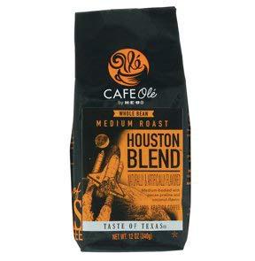 Whole Pecan Bean - Cafe Ole Taste Of Texas Houston Blend Whole Bean 12oz. (3 pack)