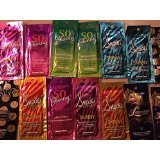 100 SUPRE Assorted Indoor Tanning Bed Lotion Packets Samples Packetes