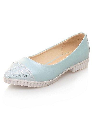 Plano rosa us5 Talón Eu35 Toe Casual Las Uk3 Señaló De Azul Mujeres blanco zapatos White Pdx Cn34 Flats qRXx6PwgnU