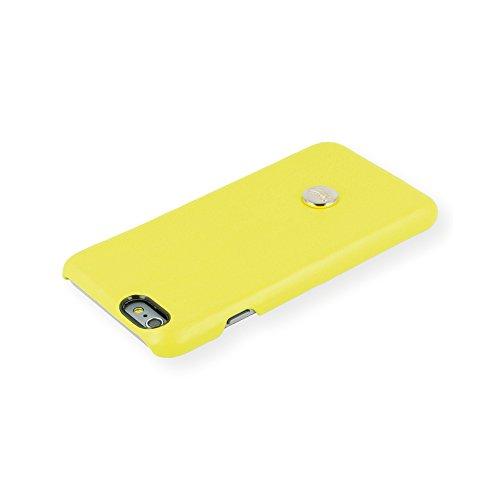 QIOTTI QX-C-0930-19-IP6 Snapcase Q.Snap Yeah Premium Echtleder für Apple iPhone 6/6S gelb