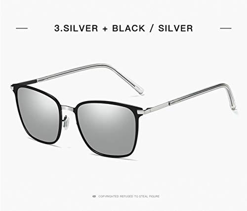 Le Soleil Pilote Protège Or 400 pour Noir gray De Style Homme UV Polarisée Etc Lunettes Classique qH8w5zaEx8