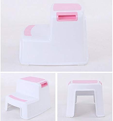 Guajave Toilet Potty Training Kids 2 Step Stools Toddler Non-Slip Bathroom Potty Stool