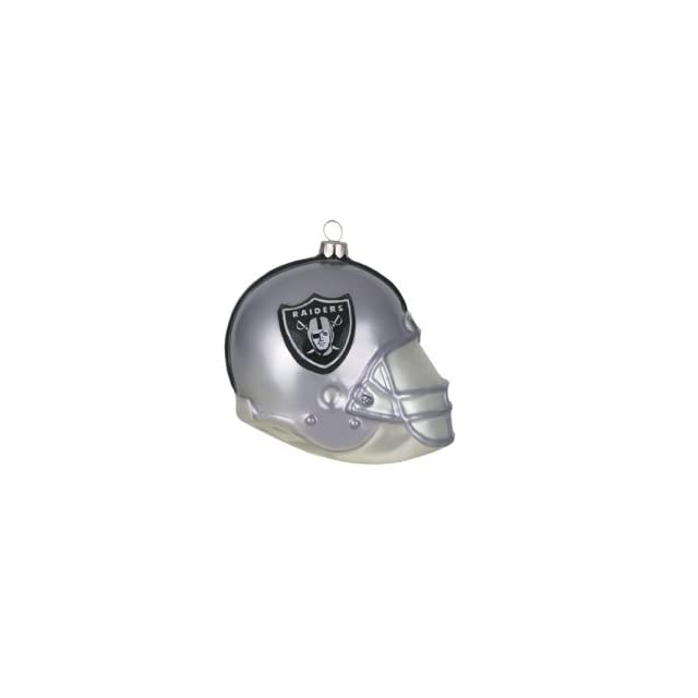 "Oakland Raiders NFL Glass Football Helmet Ornament (3"")  Sports Fan Hanging Ornaments  Sports & Outdoors"