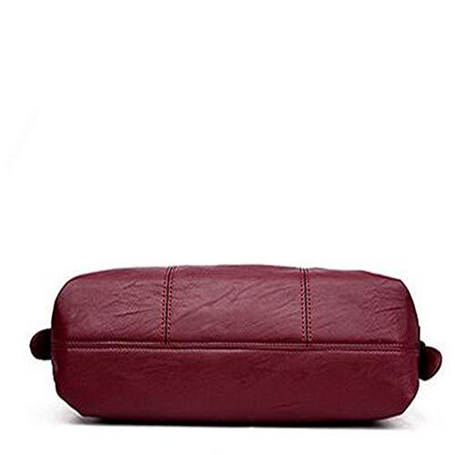 De Grande Red Voyage Red Un Une De Sac LANGUANGLIN épaule Sacs à à épissant Portable Main Capacité OARAzUq