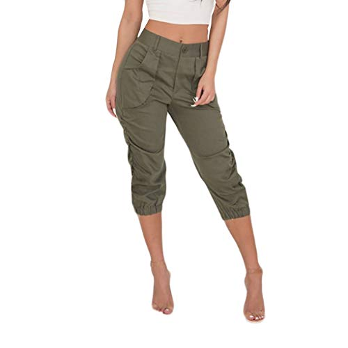 LUXISDE Trousers for Women High Waisted Casual Point Dot Print Wide Leg Palazzo Lounge Pants(Green,M) (Derby Lounge)