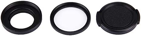 HAWEEL Lens Filter JUNESTAR for Xiaomi Xiaoyi Yi II 4K Sport Action Camera Proffesional 37mm UV Filter Lens Protective Cap