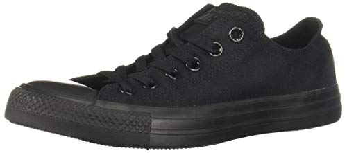 Converse Unisex Chuck Taylor All Star Low Top Black Monochrome Sneakers - Men's 5, Women's 7 -