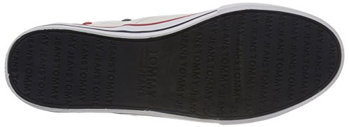 Hilfiger Denim Herren Tommy I Jeans Tessile Slittamento Scarpa Weiss (bianco 100)