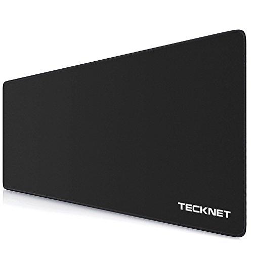 TECKNET XXL Alfombrilla de Raton - Gaming Mousepad 900x450x4mm, Base de Goma Antideslizante, Superficie con Textura Especial, Compatible con raton laser y optico