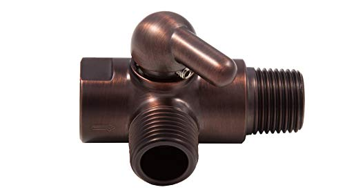 Oil Rub Bronze Dual shower head diverter valve (Solid Brass)
