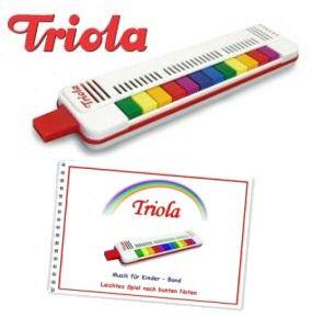 Triola 12 - die beliebte Blasharmonika für Kinder mit 12 Tönen -- im Set mit Liederbuch Band 3 (deutsche Kinderlieder)
