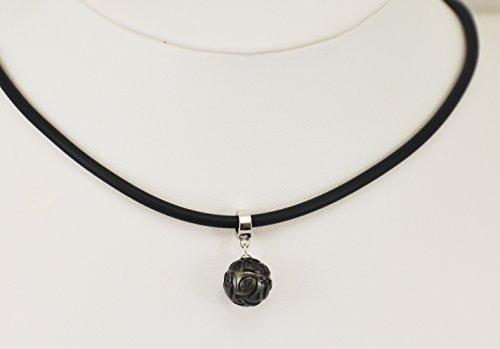 "Pendentif ""Hoe poe nana'o"" perle noire gravée de Tahiti"