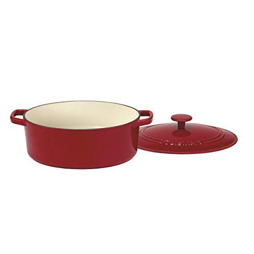 - Cuisinart CI755-30CR Chef's Classic Enameled Cast Iron 5-1/2-Quart Oval Covered Casserole, Cardinal Red