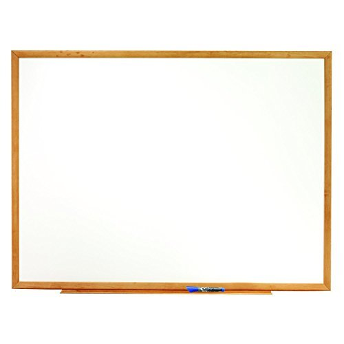 Quartet Standard Whiteboard, 8' x 4', Oak Finish Frame (S578) by Boone International