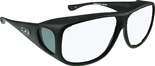 Price comparison product image Aviator Overfit Plastic Radiation Lead Glasses - Designed to Be Worn Over Prescription Eyewear Frame Shapes 148mm X 53mm - Or - 5.83 X 2.09 Inches - Matte Black