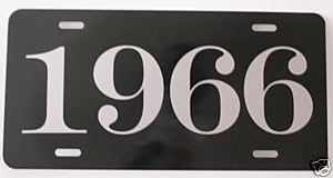 1966 66 YEAR METAL LICENSE PLATE TAG 6 X 12 FITS FORD CHEVY DODGE CORONET BUICK RAMBLER IMPALA GTX GALAXIE SUPER SPORT DART Rod Muscle CAR Classic Museum Collection Novelty Gift Sign GARAGE MAN CAVE ()