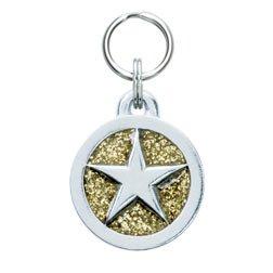Glitter Circle Dog Tags-L-STAR