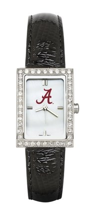 Alabama Crimson Tide UA NCAA Allure Ladies Watch With Black Leader Strap Alabama Crimson Tide Ladies Watch