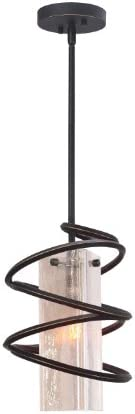 Woodbridge Lighting 12523BLK-C40432 Loop 1-Light Mini-Pendant, Black