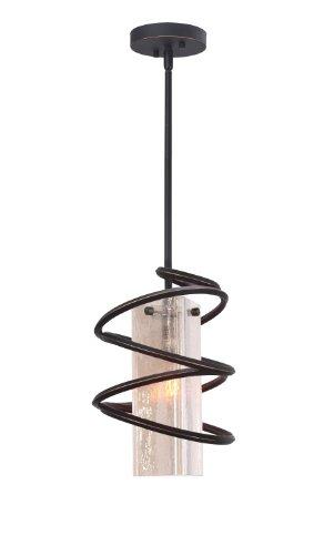 (Woodbridge Lighting 12523BLK-C40432 Loop 1-Light Mini-Pendant, Black)