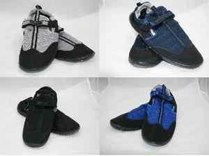 Blue Rush Mens Beach Wetsuit Velcro Aqua Shoes Black/Royal Blue ZtswKQ