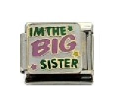 I m the BIG sister Italian charm - fits Nomination bracelets  Amazon ... a74bfa9c7b1b