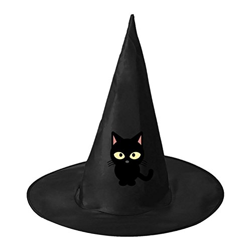 Lovely Cat Witch Wizard Hat Magic Cap Men Women Halloween Cosplay Black