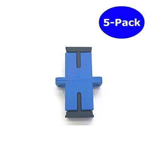 SNS Fiber Optic SC To SC/UPC Simplex Single Mode Adapter 5-Pack