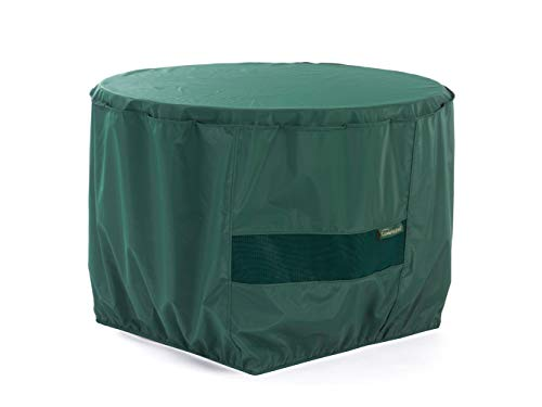 Covermates Round Accent Table Cover 42DIAMETER x 25H Classic 12-Gauge Vinyl Polyester Lining Elastic Hem for Secure Fit 2 YR Warranty Weather Resistant – Green