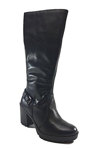 Imac - Botas de Piel para mujer negro