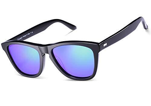 Carfia Lunettes De 100 Homme Bleu Polarisée Soleil Protection Pour Monture Miroir Uv400 Noir qgr5dgw