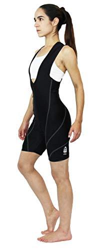 Astek Womens Black High Performance Bike Padded Cycling Modest Bibs Shorts (Small)
